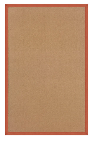 Linon Athena RUG-AT0310 Cork/Burnt Orange Area Rug main image