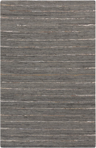 Surya Anthracite ATE-8001 Black Area Rug main image