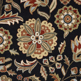 Surya Athena ATH-5017 Black Hand Tufted Area Rug Sample Swatch