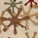 Surya Athena ATH-5019 Mocha Hand Tufted Area Rug Sample Swatch
