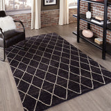 Momeni Atlas ATL-5 Charcoal Area Rug Room Scene