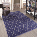 Momeni Atlas ATL-5 Navy Area Rug Room Scene