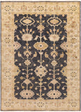 Surya Antique ATQ-1007 Black Hand Knotted Area Rug 8' X 11'