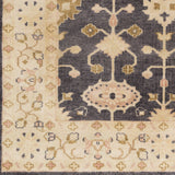 Surya Antique ATQ-1007 Black Hand Knotted Area Rug Sample Swatch