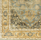 Surya Antique ATQ-1012 Teal Hand Knotted Area Rug Sample Swatch