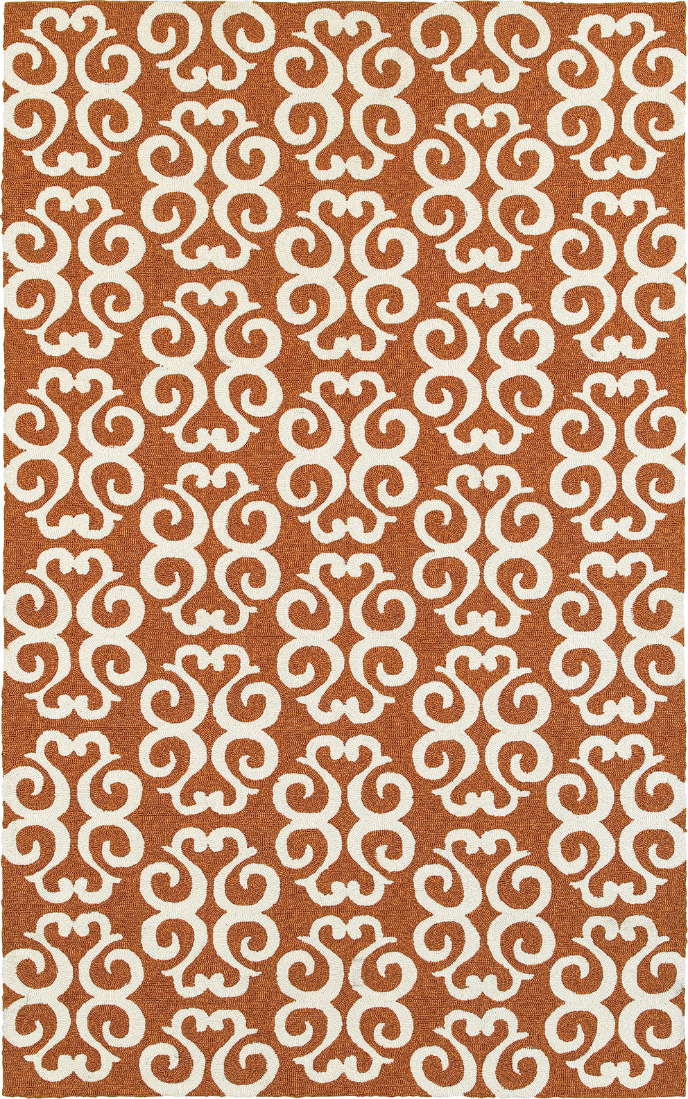 Tommy Bahama Atrium 51107 Orange Area Rug main image