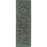 Surya Atlas ATS-1013 Teal Area Rug by Beth Lacefield 2'6'' x 8' Runner