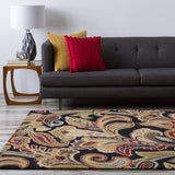 Surya Aurora AUR-1002 Black Hand Tufted Area Rug Roomscene