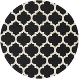 Artistic Weavers Pollack Stella Onyx Black/Ivory Area Rug Round
