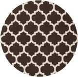 Artistic Weavers Pollack Stella Chocolate Brown/Ivory Area Rug Round