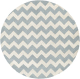 Artistic Weavers Transit Penelope Light Blue/Ivory Area Rug Round