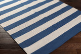 Artistic Weavers City Park Lauren Royal Blue/Ivory Area Rug Corner Shot