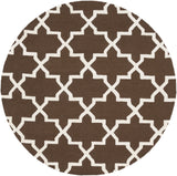 Artistic Weavers Pollack Keely Brown/Ivory Area Rug Round