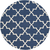 Artistic Weavers Pollack Keely Navy Blue/Ivory Area Rug Round