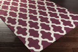 Artistic Weavers York Olivia Purple/Ivory Area Rug Corner Shot