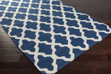 Artistic Weavers York Olivia Navy Blue/Ivory Area Rug Corner Shot