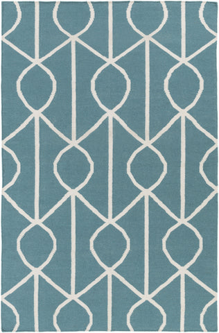 Artistic Weavers York Ellie Teal/Ivory Area Rug main image