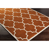 Artistic Weavers Transit Piper Dark Orange/Ivory Area Rug Corner Shot