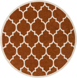 Artistic Weavers Transit Piper Dark Orange/Ivory Area Rug Round