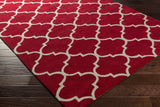Artistic Weavers Holden Finley Crimson Red/Ivory Area Rug Corner Shot
