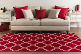 Artistic Weavers Holden Finley Crimson Red/Ivory Area Rug Room Scene