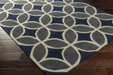 Artistic Weavers Holden Mackenzie Navy Blue/Charcoal Area Rug Corner Shot