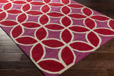 Artistic Weavers Holden Mackenzie Crimson Red/Raspberry Area Rug Corner Shot