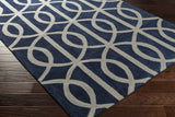 Artistic Weavers Holden Zoe Navy Blue/Light Gray Area Rug Corner Shot