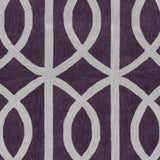 Artistic Weavers Holden Zoe Plum/Light Gray Area Rug Swatch