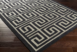 Artistic Weavers Holden Kennedy Onyx Black/Beige Area Rug Corner Shot