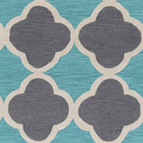 Artistic Weavers Holden Maisie Turquoise/Charcoal Area Rug Swatch