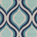 Artistic Weavers Holden Lucy Navy Blue/Turquoise Area Rug Swatch