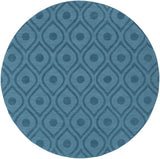 Artistic Weavers Central Park Zara Turquoise Area Rug Round
