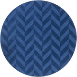 Artistic Weavers Central Park Carrie Royal Blue Area Rug Round