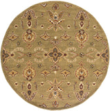 Artistic Weavers Middleton Grace Olive Green/Burgundy Area Rug Round