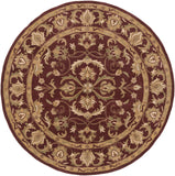 Artistic Weavers Oxford Aria Olive Green/Gold Area Rug Round