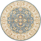 Artistic Weavers Oxford Aria Denim Blue/Olive Green Area Rug Round