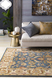Artistic Weavers Oxford Aria Denim Blue/Olive Green Area Rug Room Scene