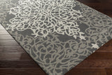 Artistic Weavers Hermitage Faith Charcoal/Gray Area Rug Corner Shot