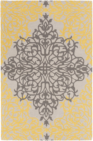 Artistic Weavers Hermitage Faith Bright Yellow/Charcoal Area Rug main image