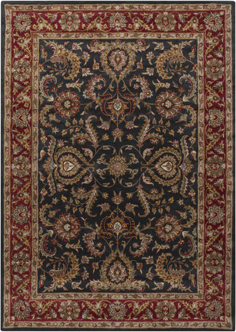 Artistic Weavers Middleton Georgia Onyx Black/Burgundy Area Rug main image