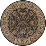 Artistic Weavers Middleton Georgia Onyx Black/Gold Area Rug Round