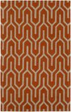 Artistic Weavers Impression Mandy Bright Orange/Taupe Area Rug main image