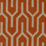 Artistic Weavers Impression Mandy Bright Orange/Taupe Area Rug Swatch