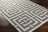Artistic Weavers Impression Libby Charcoal/Light Gray Area Rug Corner Shot