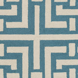 Artistic Weavers Impression Libby Teal/Ivory Area Rug Swatch
