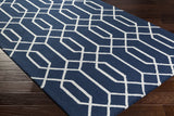 Artistic Weavers Impression Ashley Navy Blue/Ivory Area Rug Corner Shot