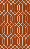 Artistic Weavers Impression Ashley Bright Orange/Ivory Area Rug main image