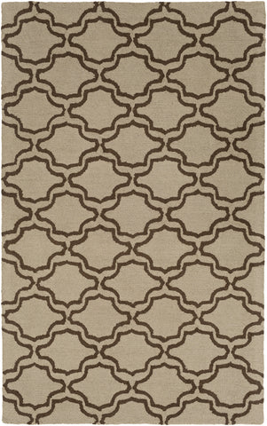 Artistic Weavers Impression Miranda Tan/Chocolate Brown Area Rug main image