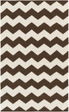 Artistic Weavers Vogue Collins Chocolate Brown/Ivory Area Rug main image